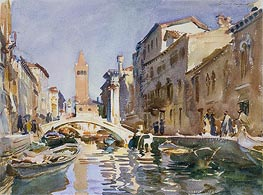 Venetian Canal, 1913 by Sargent | Painting Reproduction