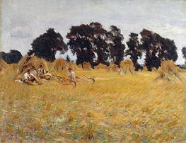 Reapers Resting in a Wheat Field, 1885 by Sargent | Painting Reproduction