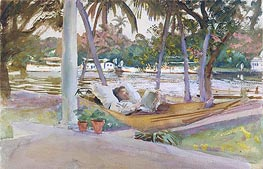 Figure in Hammock, Florida, 1917 by Sargent | Painting Reproduction