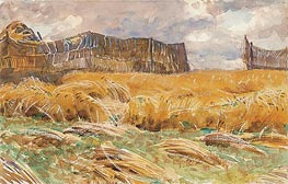 Camouflaged Field in France, 1918 by Sargent | Painting Reproduction