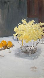 Still Life with Daffodils, c.1885 by Sargent | Painting Reproduction