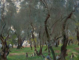 The Olive Grove, c.1910 by Sargent | Painting Reproduction