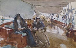 Rainy Day on the Yacht, 1924 by Sargent   Painting Reproduction