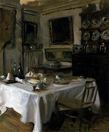 My Dining Room, c.1883/86 by Sargent | Painting Reproduction