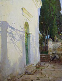Shadows on a wall in Corfu, 1909 by Sargent | Painting Reproduction