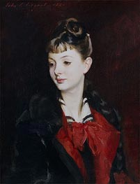 Portrait of Mademoiselle Suzanne Poirson, 1884 by Sargent | Painting Reproduction