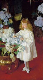 Helen Sears, 1895 by Sargent | Painting Reproduction