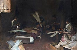 Venetian Glass Workers, c.1880/82 by Sargent   Painting Reproduction