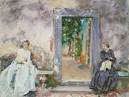 The Garden Wall, 1910 by Sargent | Painting Reproduction