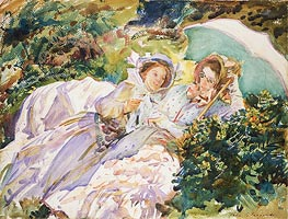 Simplon Pass: The Tease, 1911 by Sargent   Painting Reproduction