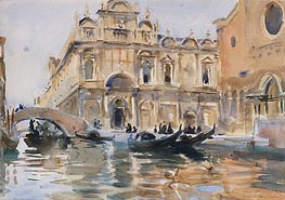 Rio dei Mendicanti, Venice, c.1909 by Sargent | Painting Reproduction