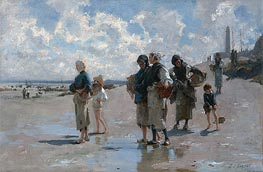 Fishing for Oysters at Cancale, 1878 by Sargent | Painting Reproduction