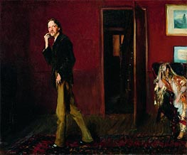 Robert Louis Stevenson and His Wife, 1885 by Sargent | Painting Reproduction