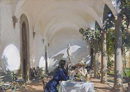Breakfast in the Loggia, 1910 by Sargent | Painting Reproduction