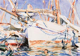 A Falucho, undated by Sargent | Painting Reproduction
