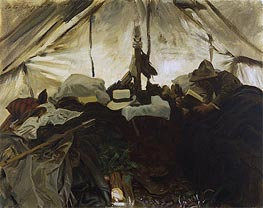 Inside a Tent in the Canadian Rockies | Sargent | veraltet