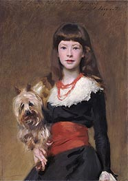 Miss Beatrice Townsend, 1882 by Sargent | Painting Reproduction