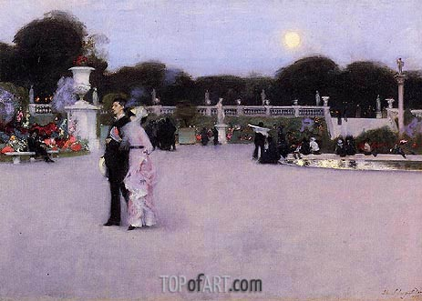 In the Luxembourg Gardens, 1879 | Sargent| Painting Reproduction