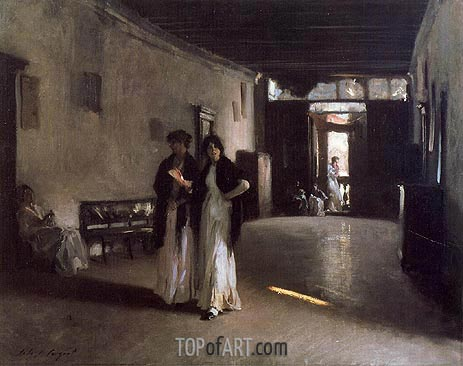 Venetian Interior, c.1880/82 | Sargent | Painting Reproduction
