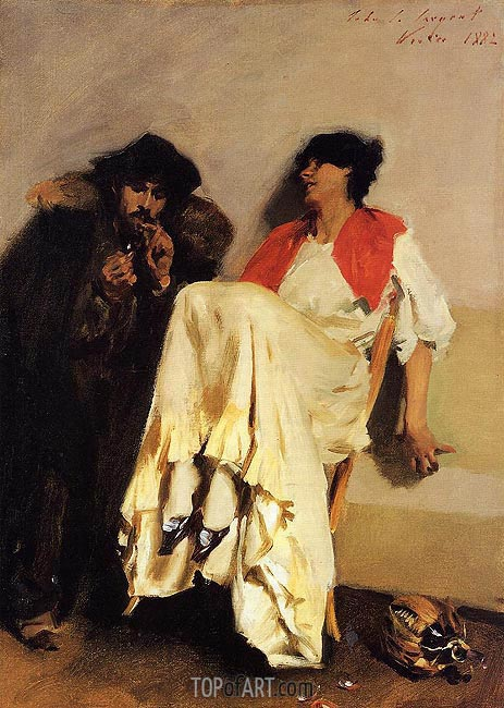 The Sulphur Match, 1882 | Sargent | Painting Reproduction