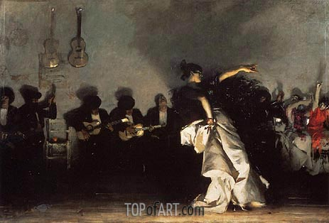 El Jaleo, 1882 | Sargent| Painting Reproduction