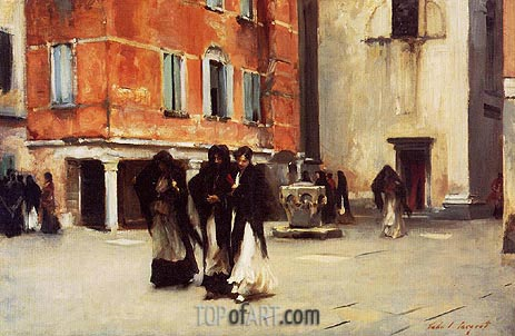 Sargent | Leaving Church, Campo San Canciano, Venice, c.1882