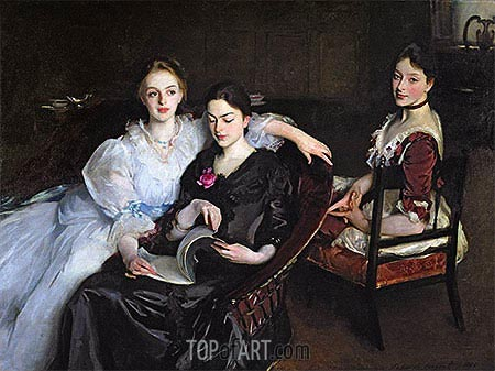 The Misses Vickers, 1884 | Sargent| Gemälde Reproduktion