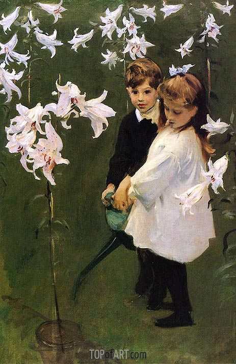 Garden Study of the Vickers Children, 1884 | Sargent| Painting Reproduction
