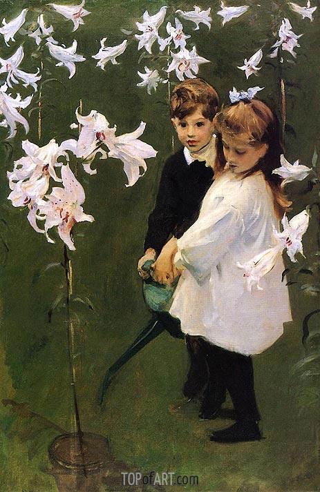 Sargent | Garden Study of the Vickers Children, 1884