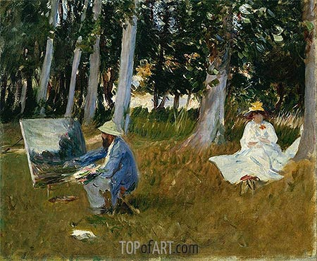 Sargent | Claude Monet Painting by the Edge of a Wood, c.1885