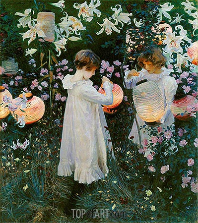 Carnation, Lily, Lily, Rose, c.1885/86 | Sargent| Painting Reproduction