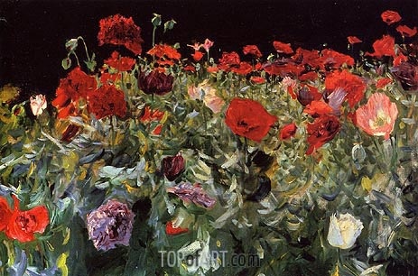 Poppies, 1886 | Sargent | Painting Reproduction