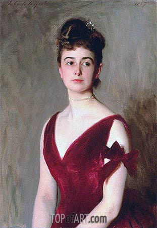Mrs Charles E. Inches (Louise Pomeroy), 1887 | Sargent | Painting Reproduction