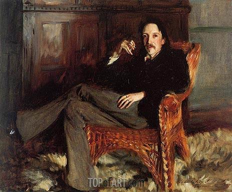 Sargent | Robert Louis Stevenson, 1887