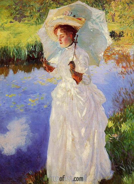 A Morning Walk, 1888 | Sargent| Gemälde Reproduktion