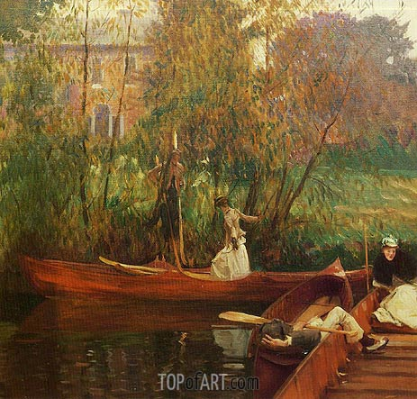 A Boating Party, c.1889 | Sargent | Gemälde Reproduktion