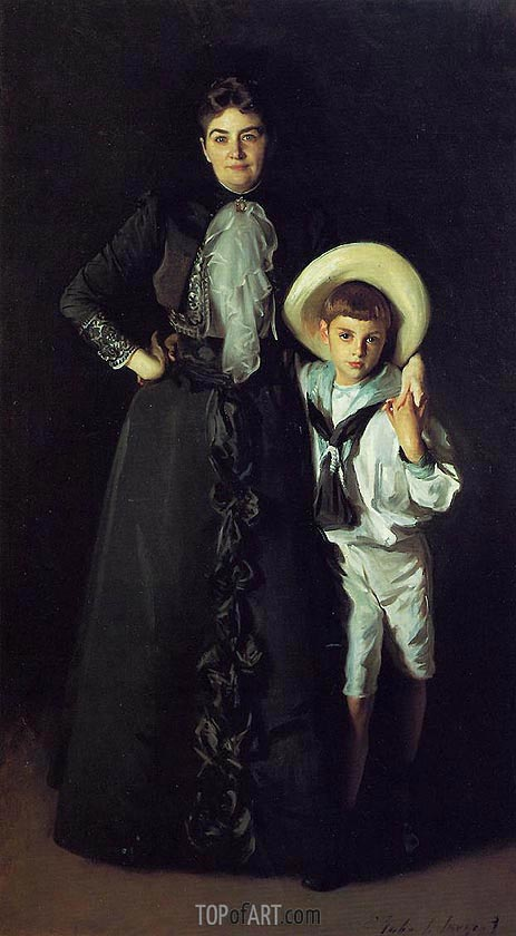 Mrs. Edward L. Davis and Her Son Livingston Davis, 1890 | Sargent | Painting Reproduction