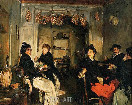 Venetian Wineshop, c.1898 | Sargent | Painting Reproduction