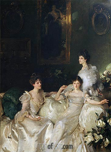 The Wyndham Sisters, 1899 | Sargent| Painting Reproduction