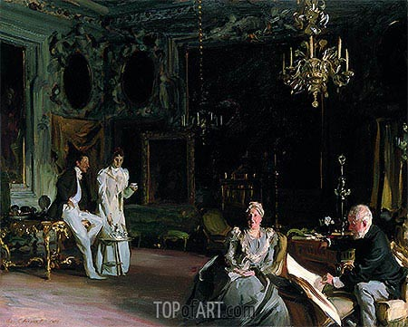 An Interior in Venice, 1899 | Sargent| Painting Reproduction