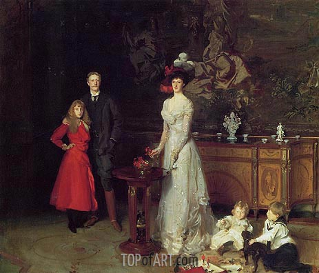 Sargent | Sir George Sitwell, Lady Ida Sitwell and Family, 1900