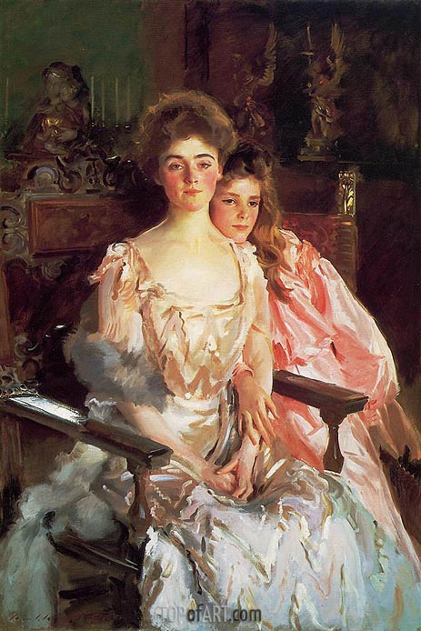 Mrs. Fiske Warren and Her Daughter Rachel, 1903 | Sargent| Painting Reproduction