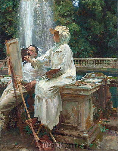 The Fountain, Villa Torlonia, Frascati, Italy, 1907 | Sargent| Painting Reproduction