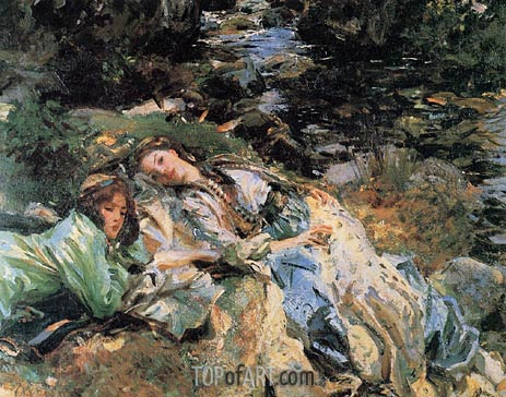 The Brook, c.1907 | Sargent| Painting Reproduction