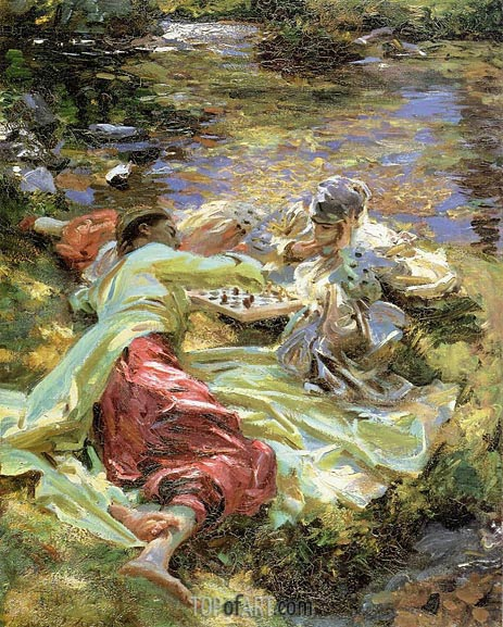 The Chess Game, c.1907 | Sargent| Painting Reproduction