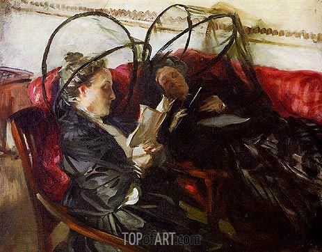 Mosquito Nets, 1908 | Sargent| Painting Reproduction