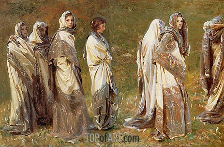 Cashmere, c.1908 | Sargent | Painting Reproduction