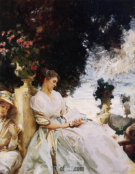 In the Garden, Corfu, 1909 | Sargent| Painting Reproduction