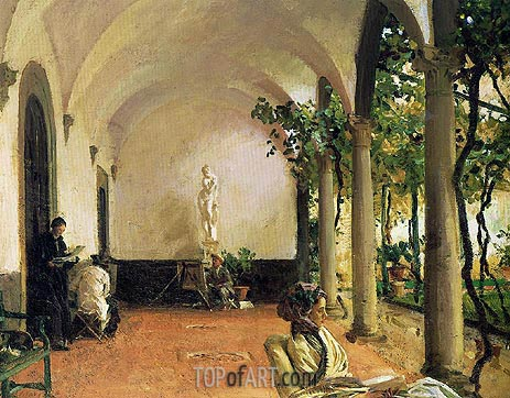 Sargent | Villa Torre Galli: The Loggia, 1910