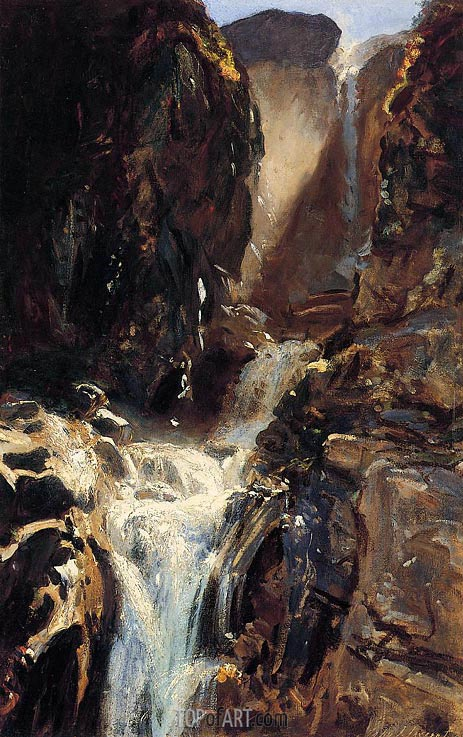 A Waterfall, c.1910 | Sargent | Painting Reproduction